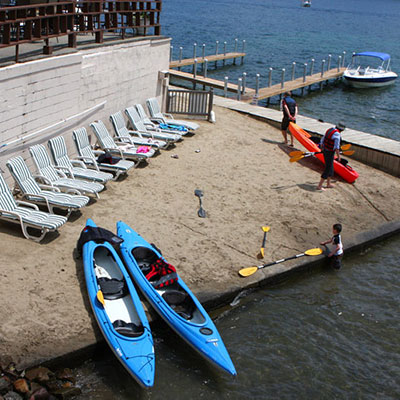 Kayaks available to guests