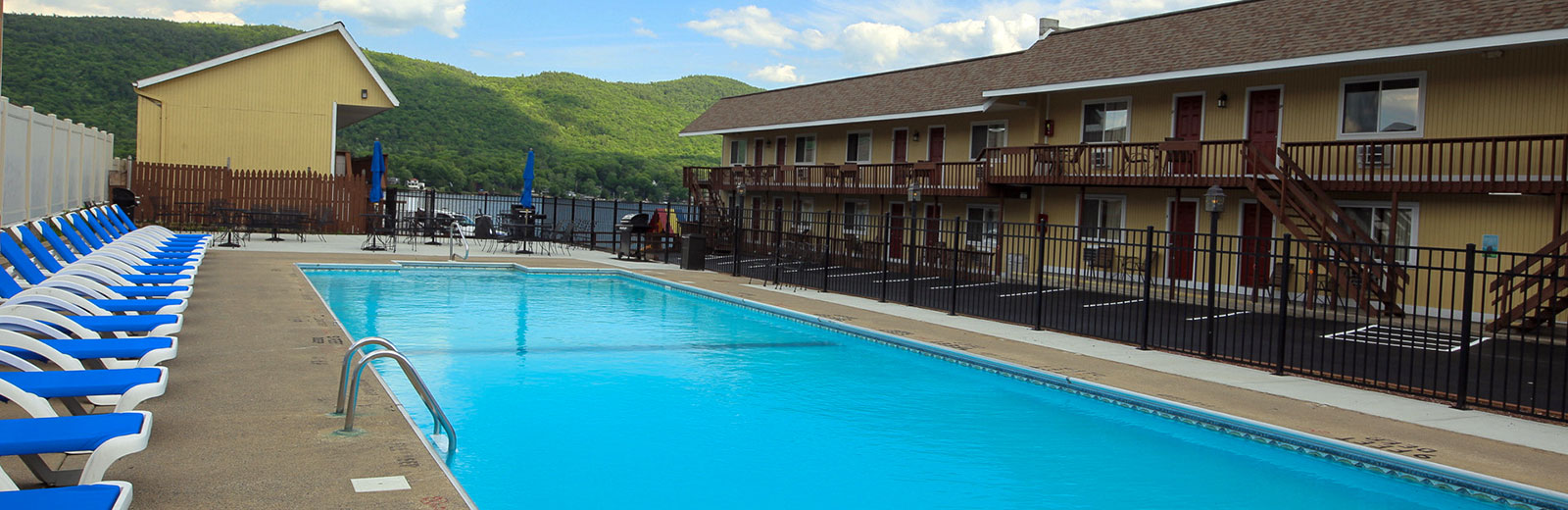 On Resort amenities includes an in-ground pool near the lake