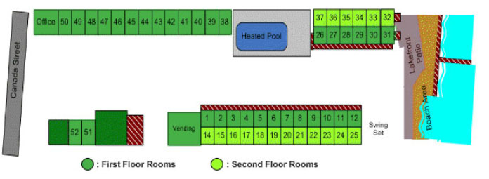 Rooms and amenities map of the Park Lane resort