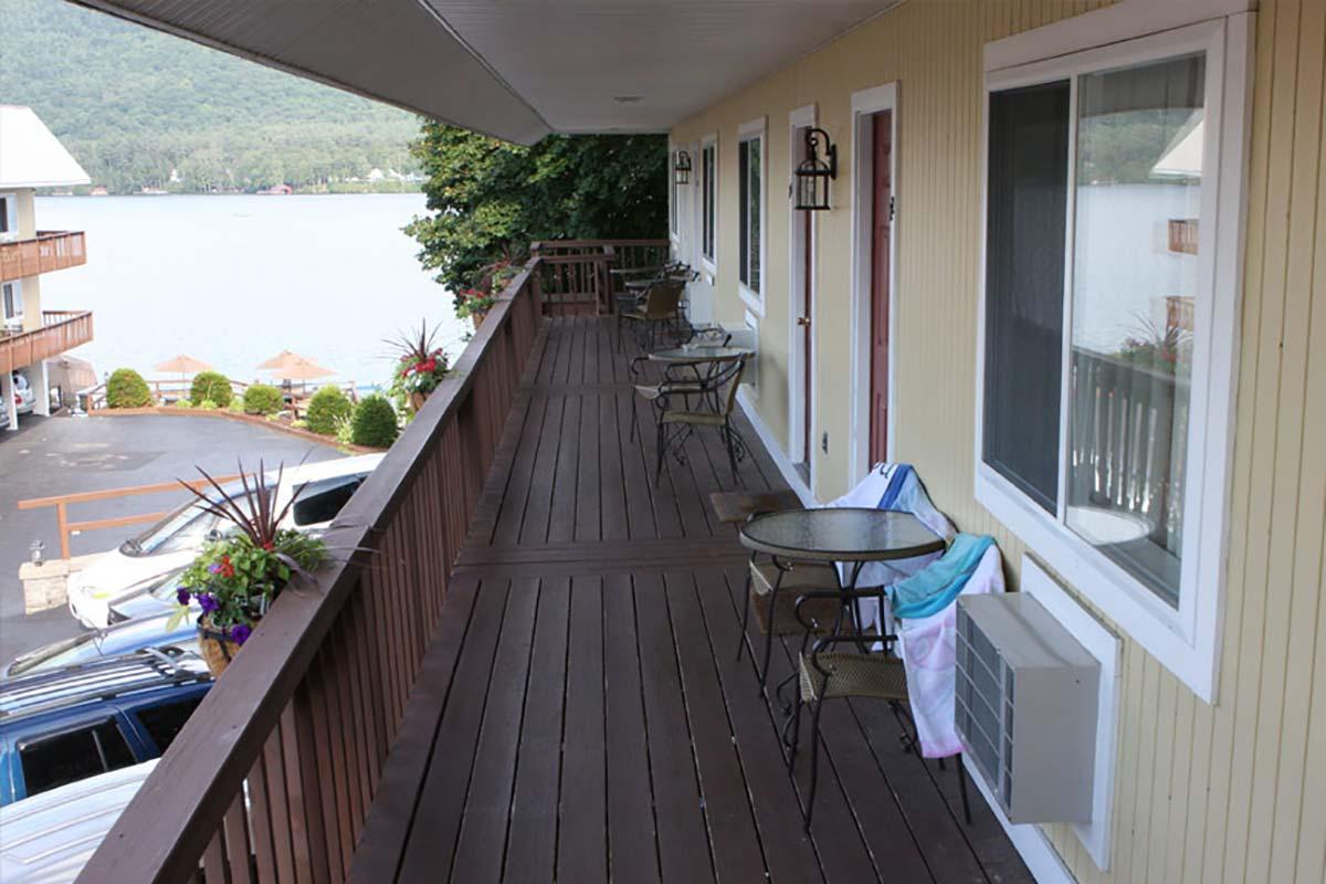 Pool view balcony