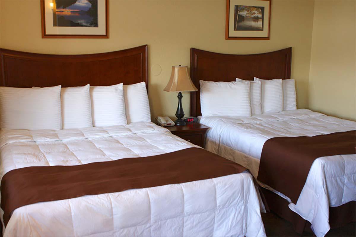 Pool view Junior room double queen beds
